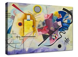 Quadri-Moderni-Kandinsky-Astratto-Quadro-Stampa-su-Tela-Canvas-XXL-Arte-Casa