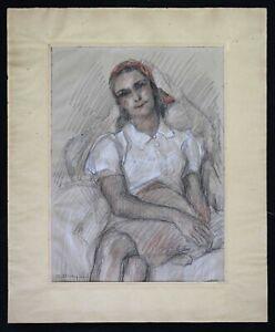 Eliane-Diverly-1914-2012-Portraet-von-Frau-Art-Deco-Grasse-Dunoyer-Segonzac