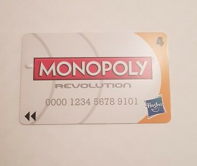 2 Monopoly Revolution Board Game Spare Replacement CREDIT CARD no 4 in ORANGE