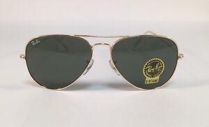 887f678a59 New RAY BAN Sunglasses 3025 L0205 Aviator Gold Ray-Ban 58mm Metal ...