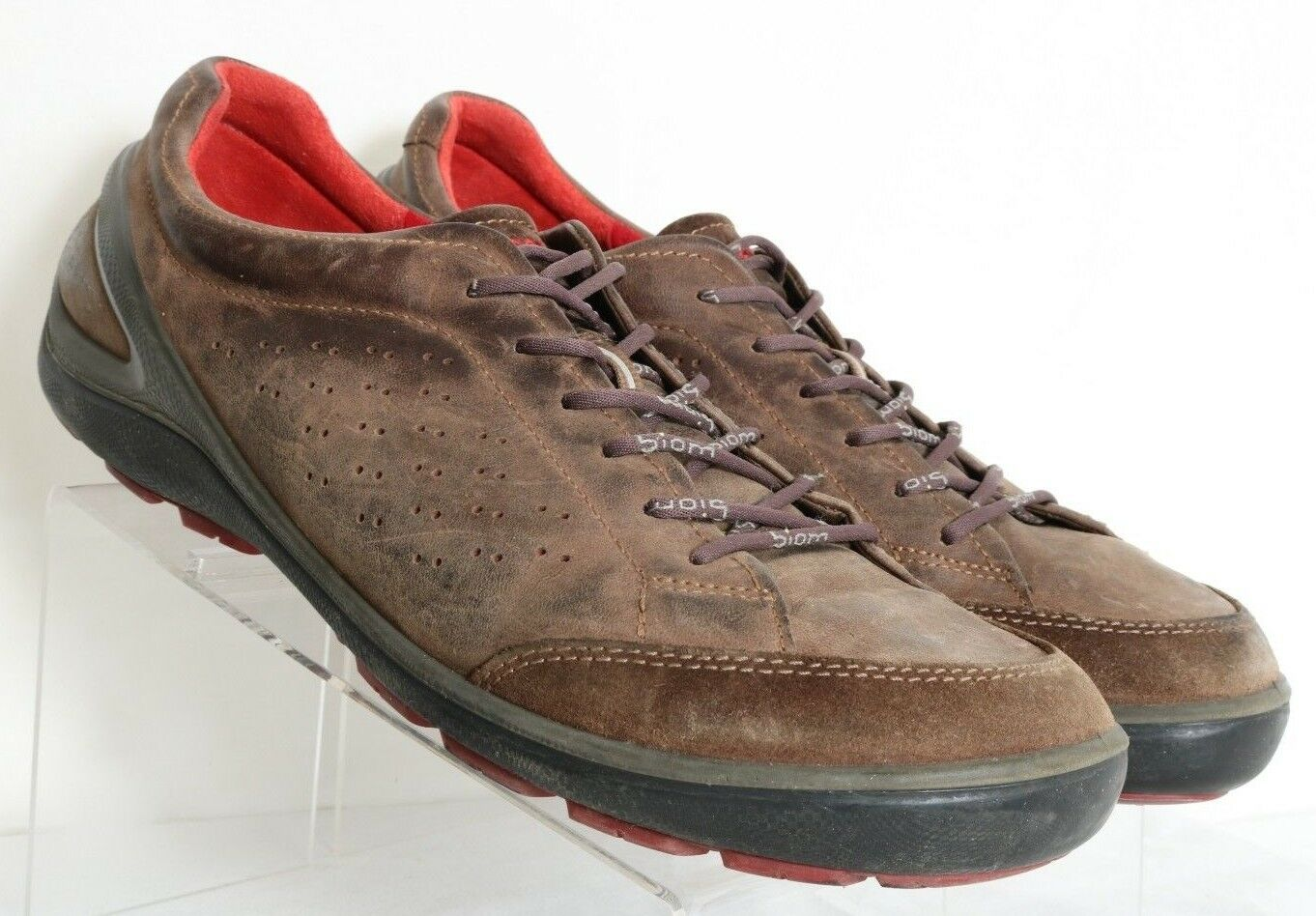 ECCO Biom Grip II Brown Lace-Up Casual Perofrated shoes Men's US 14