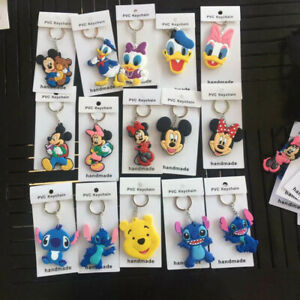 Lilo-amp-stitch-mickey-minnie-PVC-key-chain-keyring-key-chains-ornament-new