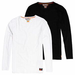 Détails sur Superdry Neuf SD Laundry Coton Bio Slim T Shirt Pack Double Laundry Noir