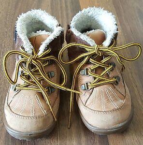GEOX Kinder Winterstiefel Stiefel Schuhe braun Leder Gr 24 ...