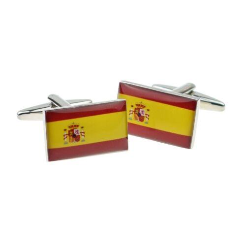 España Bandera Gemelos presentado en una caja x 2 bocf 029