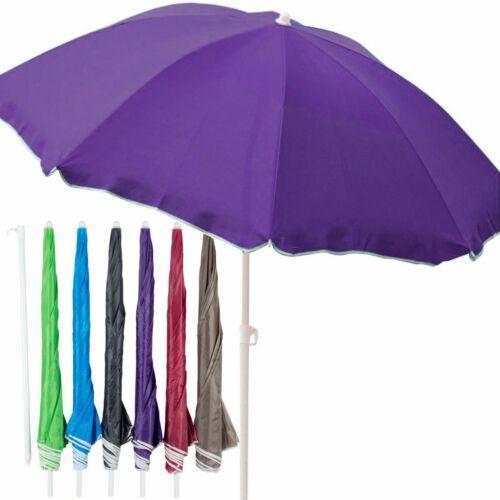 Strandschirm 170cm knickbar Sonnenschirm Schirm Nylon Gartenschirm Farbauswahl