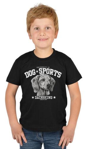 Basset Teckel Enfants Shirt-Multicolore Chiens Motif T-Shirt Enfants Dumpling Shirt