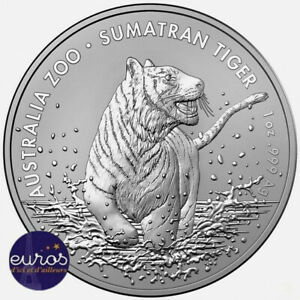 AUSTRALIE-2020-1-AUD-Le-Tigre-de-Sumatra-1-oz-argent-999-99-Bullion