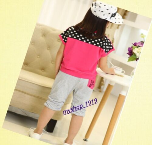 Girls Summer clothes Top and Pants set Outfit Sets Age 3 4 5 6 7 8 9 10 11 12 yr