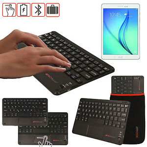 662f8fcc397 Slim Wireless Bluetooth UK Keyboard with Touchpad for Samsung Galaxy ...