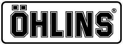 """#2508 1 4/"""" Ohlins Shock Sponsor Racing 1980/'s Vintage Decal Sticker LAMINATED"""