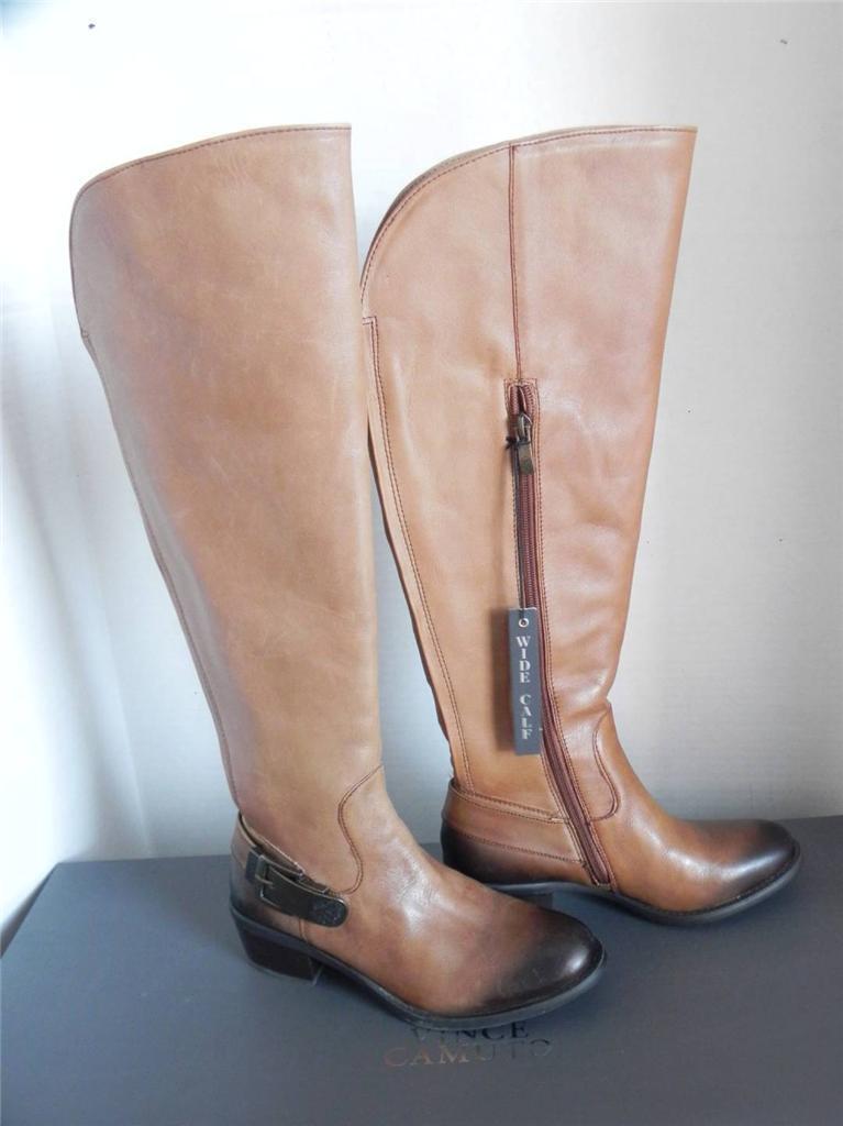 Vince Camuto Bedina Braun Tie Dye Leder Buckle Knee High Stiefel 6.5 Wide Calf