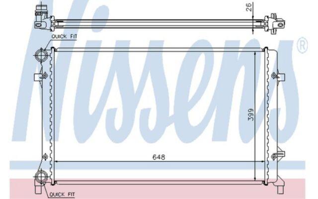 NISSENS Radiador, refrigeración del motor VOLKSWAGEN GOLF SEAT AUDI A3 65277A