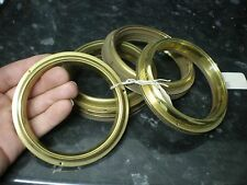 """Brass Barometer BEZEL 4 1/2"""" O/D 114mm Spun Aneriod parts spares clock glass"""