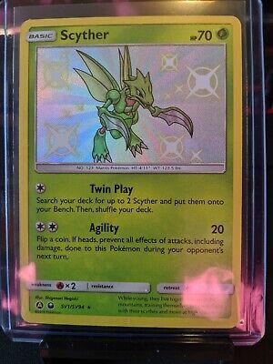 SV1//SV94 Shiny Rare M//NM Scyther Pokemon Hidden Fates