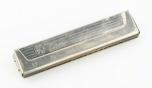 Vintage-Hohner-Echo-Harmonica-Key-of-C-Made-in-Germany-Octave-32-Hole