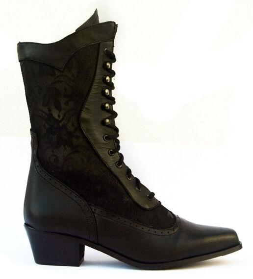 Mesdames bottes western cowboy cowgirl cuir noir (cathédrale de style)