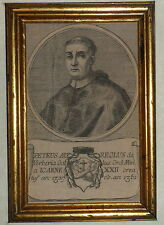 600'-RITRATTO PAPAGIOVANNI XXII-IOANNE-PETRUS AUREOLUS DE VERBERIA GALLUS