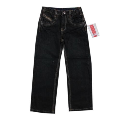 Kanz Hose Jeans lang gerades Bein Antrazit Jungen Kinder Gr.80 86 104