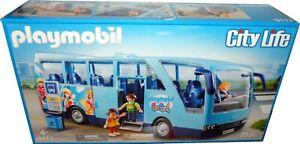 Playmobil-City-Life-9117-Diversion-Park-Autobus-Escolar-Nuevo-Y-En-Caja-Entrenador