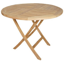 Luxus Teak Tisch Gartentisch Teaktisch Klapptisch rund