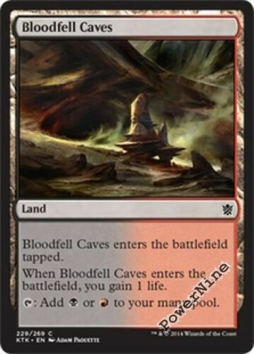 Land Khans of Tarkir Mtg Magic Common 4x x4 4 FOIL Bloodfell Caves