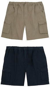 Mens-Pierre-Roche-Plus-Big-Size-100-Cotton-Summer-Cargo-Walk-Shorts