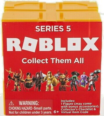 Roblox Toys Mystery Figures Design And Exclusive Items Roblox Toys Figures Series 5 Mystery Box With Exclusive Game Code Accessories 681326108290 Ebay