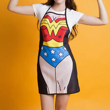 Comic Superwoman Wonder Woman Female Apron Superhero Kitchen Costume Apron