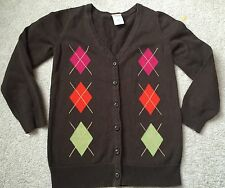 GYMBOREE 5 6 Sweater Brown Cardigan Argyle Spring Summer Fall Winter Top BTS