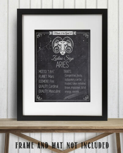 11x14 Unframed Art Print Details about  /Zodiac Sign Aries Makes a Great Gift Under $15