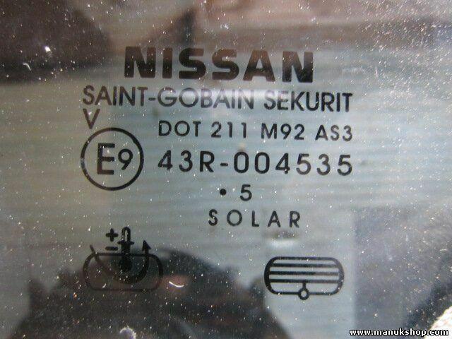 s l1600 - Triángulo Cristal de la puerta trasero izquierdo Nissan Pick-Up 43R004535
