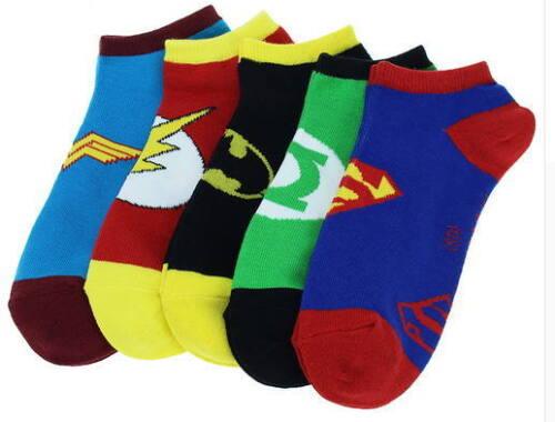 Flash Wonder Woman Damen EU 36-40 Sneaker Socken SET 5er-Pack Superman Batman