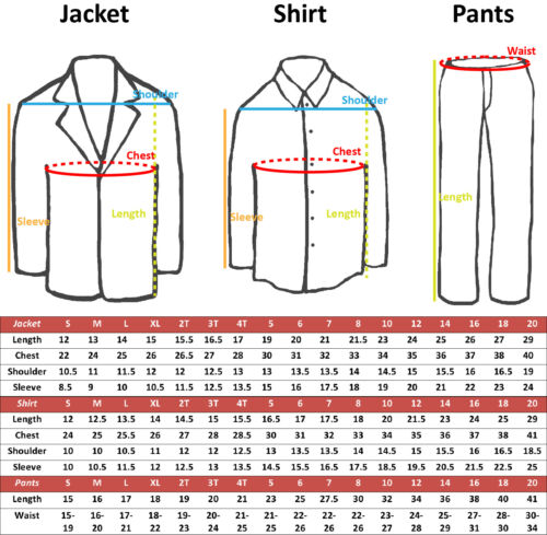 New Born Baby Toddler Boy Teen Formal Notch Lapel Color Suit Jacket Sm-20