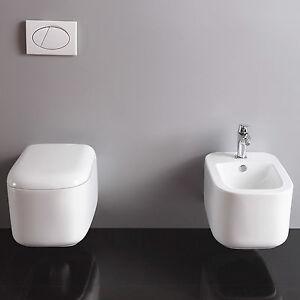 image is loading sanitari bagno sospesi moderni in ceramica vaso bidet