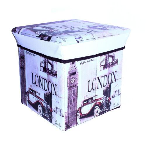 Storage Box Padded Bench Seat Home Furniture Bedroom 30cm x 30cm x 30cm