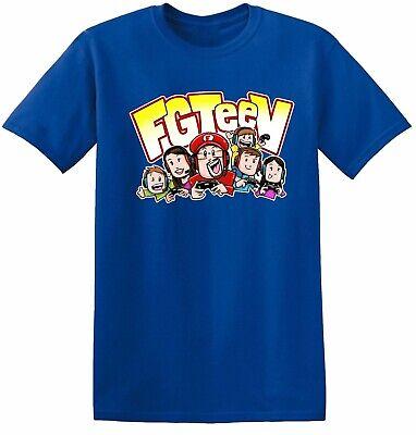UK New GURKEY FUNnel Vision FGTeeV Kids Boys Girls Short Sleeve T-shirt Tops