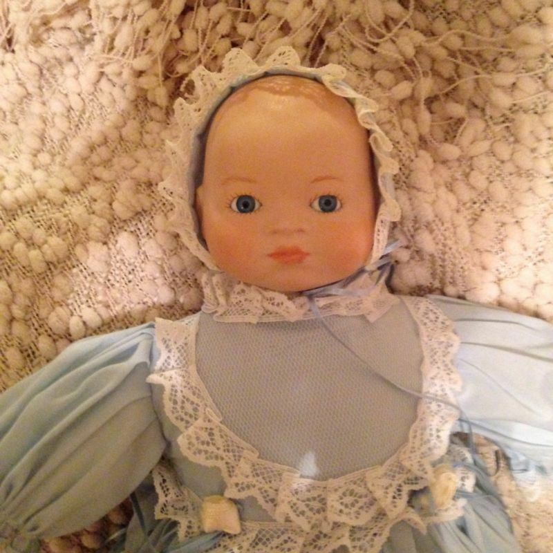 Vintage Porcelain Baby Doll (handmade) with Cloth Body