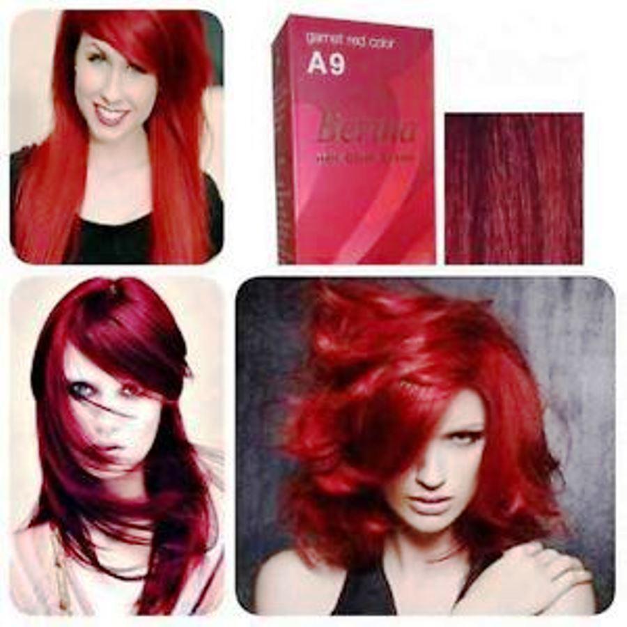 Berina Permanent Hair Dye Color Fashion Colour Cream A9 Garnet Red