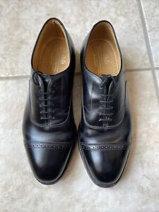 Johnston & Murphy Men's Aristocraft 10.5 Black Cap Toe Oxfords Dress Shoes - USA