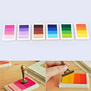 Multicolor-Rainbow-Ink-Pad-Stamp-DIY-Album-Card-Birthday-Wedding-Gift-Decor