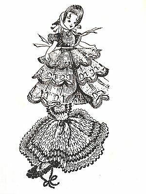 856 Vintage Laura Wheeler DOLL DRESSES//HATS Patterns to Crochet Reproduction