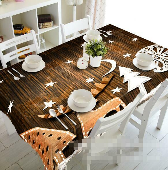 3D Wood Pattern 4 Tablecloth Table Cover Cloth Birthday Party Event AJ WALLPAPER