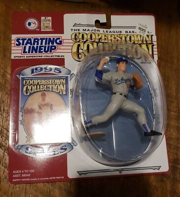 Don Drysdale 1995 Cooperstown Collection Opened Starting Line Up Figure /& Card
