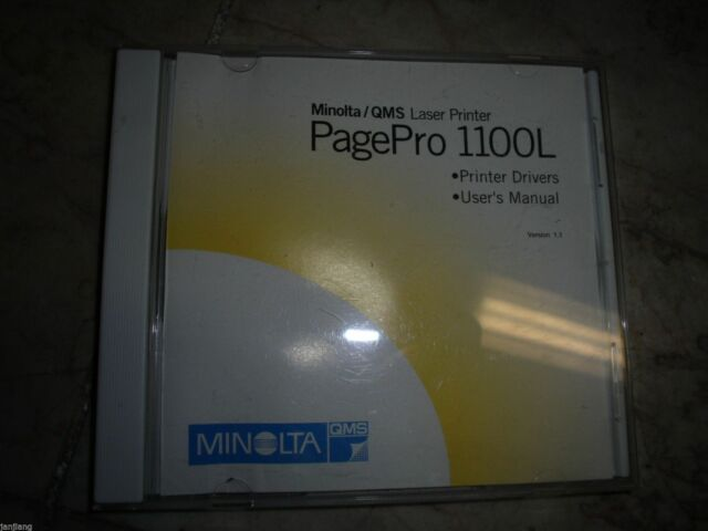 DRIVER UPDATE: MINOLTA-QMS PAGEPRO 1100L