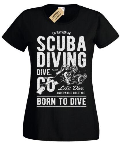 Plongée sous-marine femme T Shirt Femme Diver Tee plongeurs Présent Cadeau D/'Anniversaire