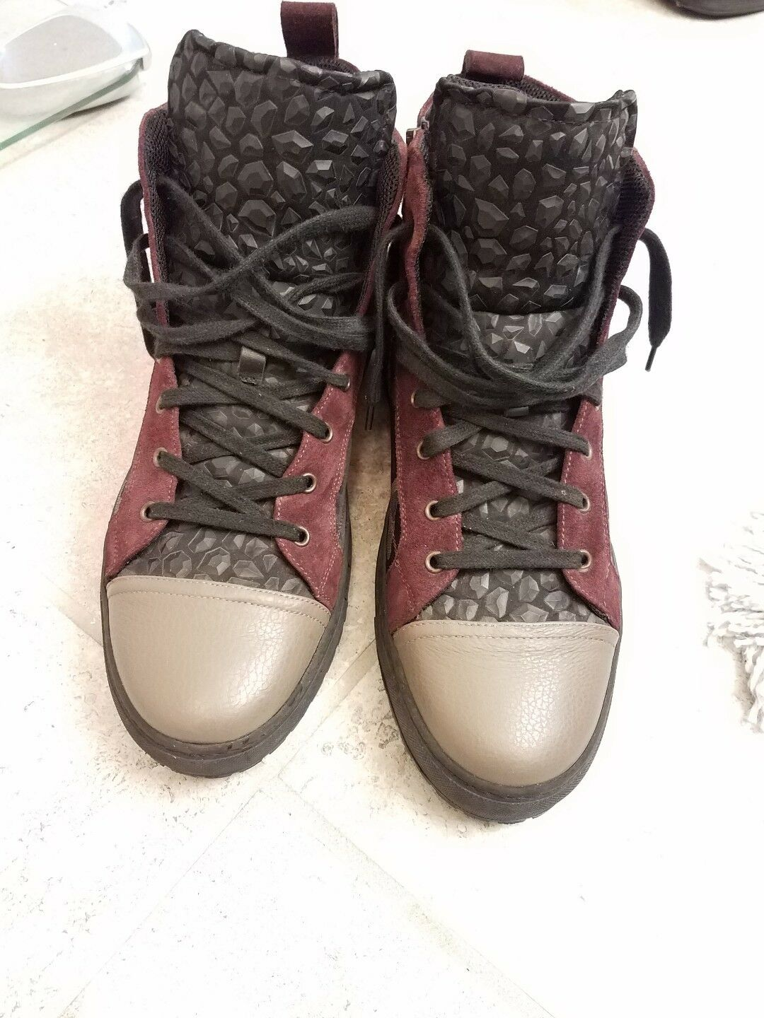 Men John Gagliano Camo Boots size 13 suede leather.   1000