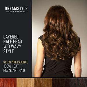 Clip-In-Curly-Hair-Extensions-Pieces-Layered-Half-Head-Wig