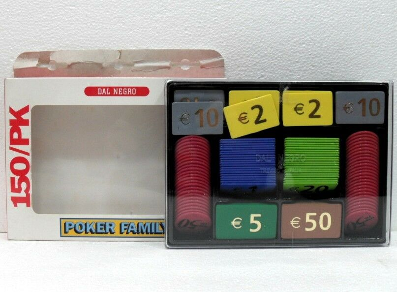 150 FICHES GETTONI-POKER FAMILY  DAL noir
