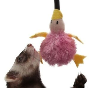 Marshall-Ferret-Cat-Cage-Cage-Plush-Bungee-toy-w-Bell